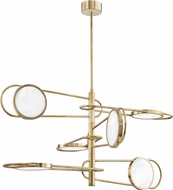 Hudson Valley 8726-AGB Valeri Contemporary Aged Brass LED Hanging Lamp
