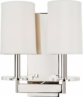 Hudson Valley 8802-PN Chelsea Polished Nickel Lighting Wall Sconce