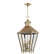 Hudson Valley 8819-AGB Barstow Aged Brass 19.5 Wide Foyer Lighting