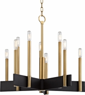 Hudson Valley 8825-AGB Abrams Contemporary Aged Brass Hanging Chandelier