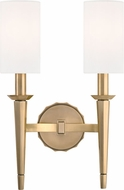 Hudson Valley 8882-AGB Tioga Aged Brass Wall Lamp