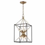 Hudson Valley 8912-AGB Glendale Aged Brass Finish 24.75  Tall Pendant Lighting