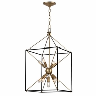 Hudson Valley 8916-AGB Glendale Aged Brass Finish 30  Tall Lighting Pendant