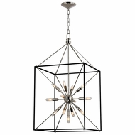 Hudson Valley 8920-PN Glendale Polished Nickel Finish 20.25  Wide Hanging Light