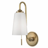 Hudson Valley 9011-AGB Glover Aged Brass Lamp Sconce