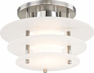 Hudson Valley 9012F-PN Gatsby Modern Polished Nickel LED Home Ceiling Lighting