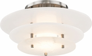 Hudson Valley 9016F-PN Gatsby Modern Polished Nickel LED Overhead Lighting Fixture