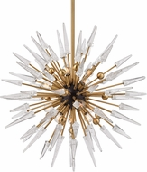 Hudson Valley 9032-AGB Sparta Contemporary Aged Brass Chandelier Lighting
