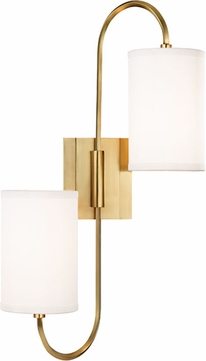 Hudson Valley 9100-AGB Junius Aged Brass Wall Mounted Lamp