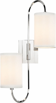 Hudson Valley 9100-PN Junius Polished Nickel Wall Light Sconce