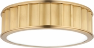 Hudson Valley 911-AGB Middlebury Modern Aged Brass 13 Ceiling Light Fixture
