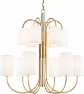 Hudson Valley 9112-AGB Junius Aged Brass Chandelier Light