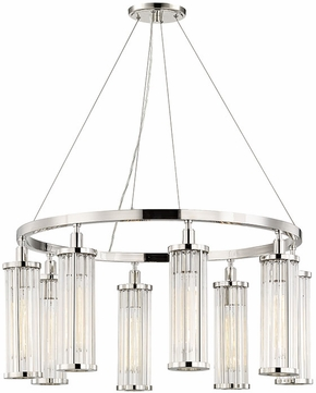 Hudson Valley 9130-PN Marley Contemporary Polished Nickel 30  Ceiling Chandelier