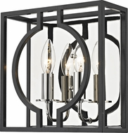 Hudson Valley 9200-AIPN Octavio Modern Aged Iron / Polished Nickel Combo Wall Light Sconce