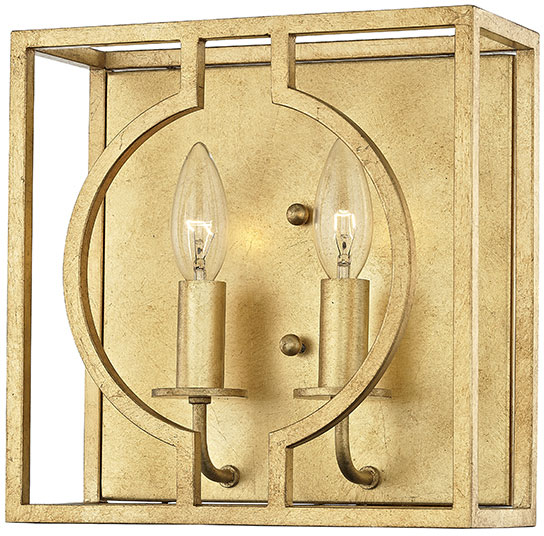Hudson Valley 9200 Gl Octavio Contemporary Gold Leaf Wall Lighting Fixture