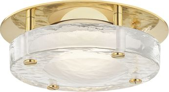 Hudson Valley 9208-AGB Heath Contemporary Aged Brass LED Flush Mount Ceiling Light Fixture