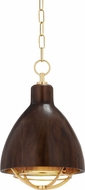 Hudson Valley 9212-AGB Sands Point Contemporary Aged Brass Mini Pendant Light Fixture