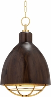 Hudson Valley 9216-AGB Sands Point Contemporary Aged Brass Hanging Pendant Lighting