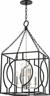Hudson Valley 9218-AIPN Octavio Modern Aged Iron / Polished Nickel Combo 18  Foyer Lighting