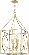 Hudson Valley 9218-GL Octavio Contemporary Gold Leaf 18  Foyer Light Fixture