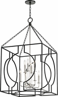 Hudson Valley 9224-AIPN Octavio Modern Aged Iron / Polished Nickel Combo 24  Foyer Lighting Fixture