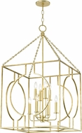 Hudson Valley 9224-GL Octavio Contemporary Gold Leaf 24  Entryway Light Fixture