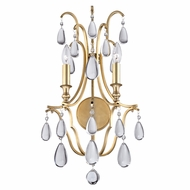 Hudson Valley 9302-AGB Crawford Aged Brass Wall Lighting Sconce