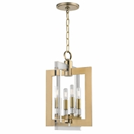 Hudson Valley 9312-AGB Wellington Modern Aged Brass 12  Wide Entryway Light Fixture