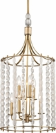 Hudson Valley 9318-AGB Whitestone Modern Aged Brass 15.75  Foyer Lighting