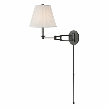 Hudson Valley 9321-OB Ravena Old Bronze Finish 16.25  Tall Wall Swing Arm Lamp