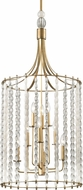 Hudson Valley 9322-AGB Whitestone Modern Aged Brass 20.5  Foyer Lighting Fixture