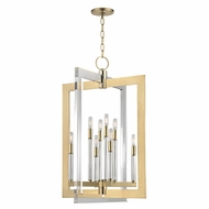 Hudson Valley 9323-AGB Wellington Modern Aged Brass 23  Wide Entryway Light Fixture