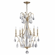 Hudson Valley 9324-AGB Crawford Aged Brass Ceiling Chandelier