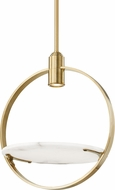 Hudson Valley 9400-AGB Dreyer Modern Aged Brass Halogen Drop Ceiling Lighting