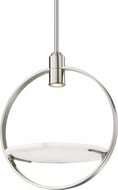 Hudson Valley 9400-PN Dreyer Contemporary Polished Nickel Halogen Ceiling Pendant Light