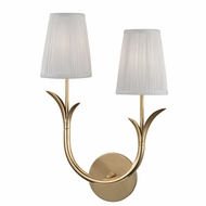 Hudson Valley 9402R-AGB Deering Aged Brass Wall Sconce Light