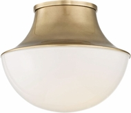 Hudson Valley 9411-AGB Lettie Modern Aged Brass LED 10.75  Ceiling Light Fixture