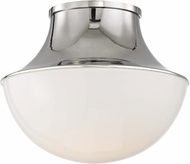 Hudson Valley 9411-PN Lettie Modern Polished Nickel LED 10.75  Ceiling Light Fixture