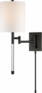 Hudson Valley 9421-OB Englewood Contemporary Old Bronze Wall Swing Arm Light
