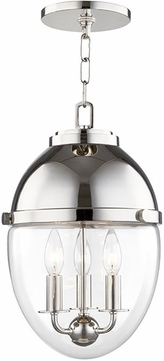 Hudson Valley 9511-PN Kennedy Modern Polished Nickel Mini Pendant Lighting Fixture