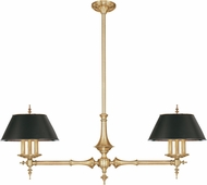 Hudson Valley 9512-AGB Cheshire Contemporary Aged Brass Island Light Fixture