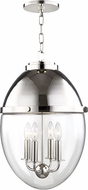 Hudson Valley 9514-PN Kennedy Contemporary Polished Nickel Pendant Hanging Light