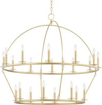 Hudson Valley 9549-AGB Howell Aged Brass Chandelier Lamp