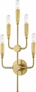 Hudson Valley 9605-AGB Glencoe Contemporary Aged Brass Wall Sconce Lighting