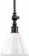 Hudson Valley 9608-DB Darien Contemporary Distressed Bronze Mini Pendant Light Fixture