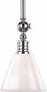 Hudson Valley 9608-PN Darien Modern Polished Nickel Mini Hanging Pendant Lighting