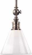 Hudson Valley 9611-HN Darien Contemporary Historic Nickel Mini Pendant Hanging Light
