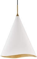 Hudson Valley 9618-GL-WHT Martini Modern Gold Leaf / White 18  Drop Ceiling Light Fixture