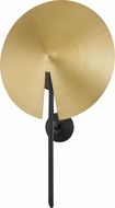 Hudson Valley 9701-AGB-BK Equilibrium Contemporary Aged Brass / Black Wall Light Sconce