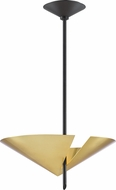 Hudson Valley 9711-AGB-BK Equilibrium Modern Aged Brass / Black Hanging Pendant Lighting